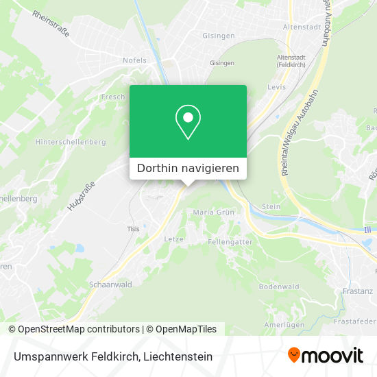Umspannwerk Feldkirch Karte
