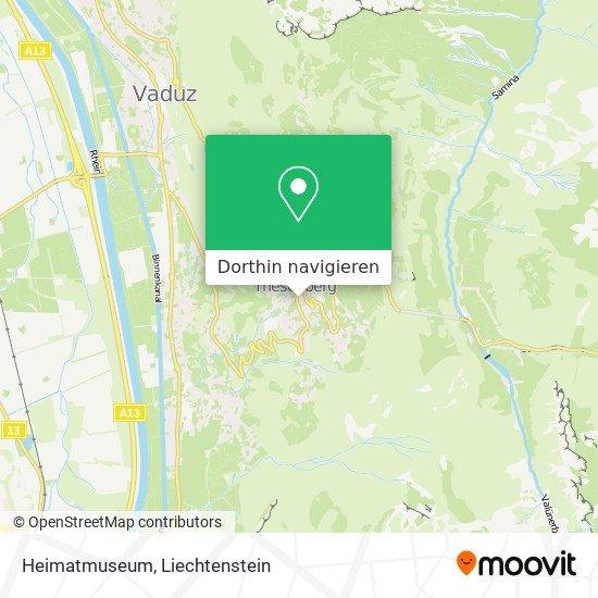 Heimatmuseum Karte