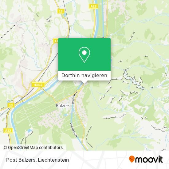 Post Balzers Karte