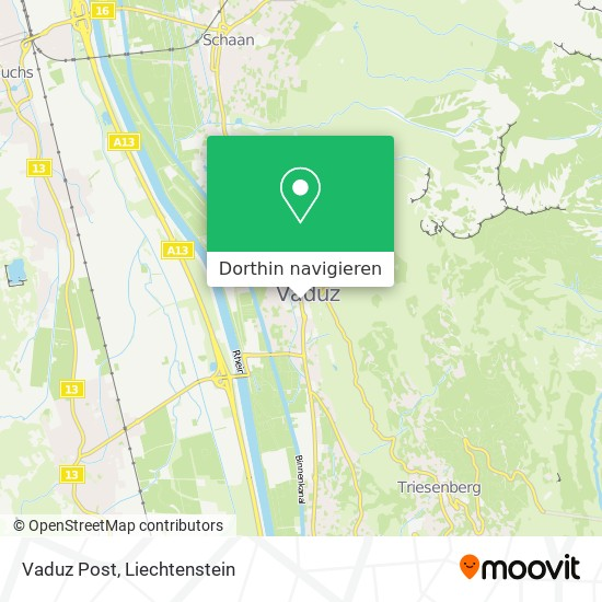 Vaduz Post Karte