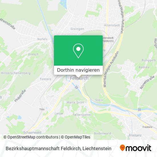 Bezirkshauptmannschaft Feldkirch Karte