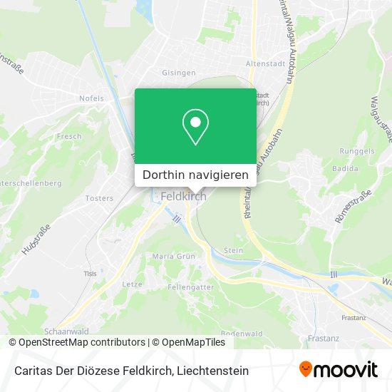 Caritas Der Diözese Feldkirch Karte