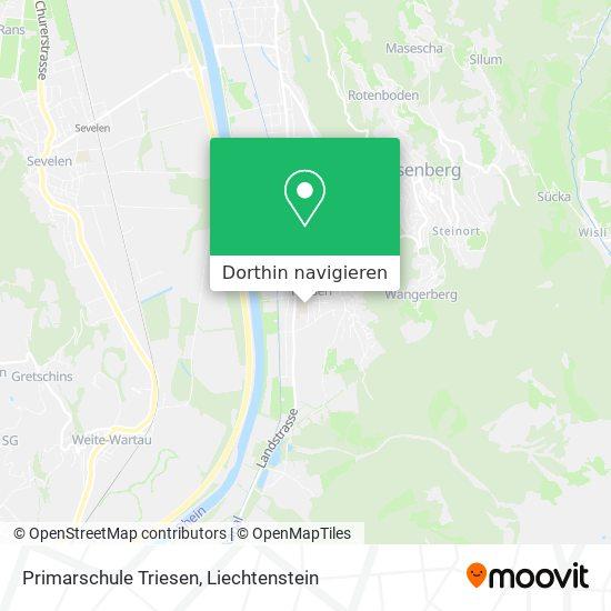 Primarschule Triesen Karte