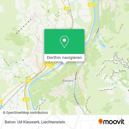 Beton- Ud Kieswerk Karte