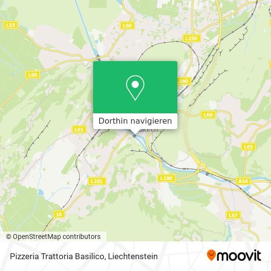 Pizzeria Trattoria Basilico Karte