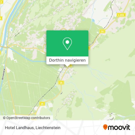 Hotel Landhaus Karte