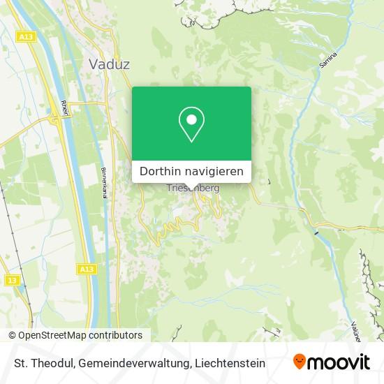 St. Theodul, Gemeindeverwaltung Karte