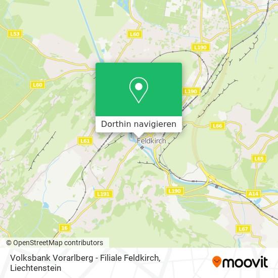 Volksbank Vorarlberg - Filiale Feldkirch Karte