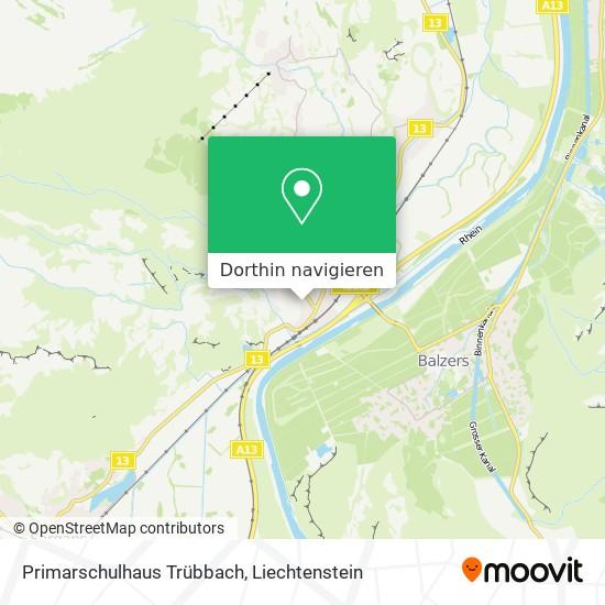 Primarschulhaus Trübbach Karte