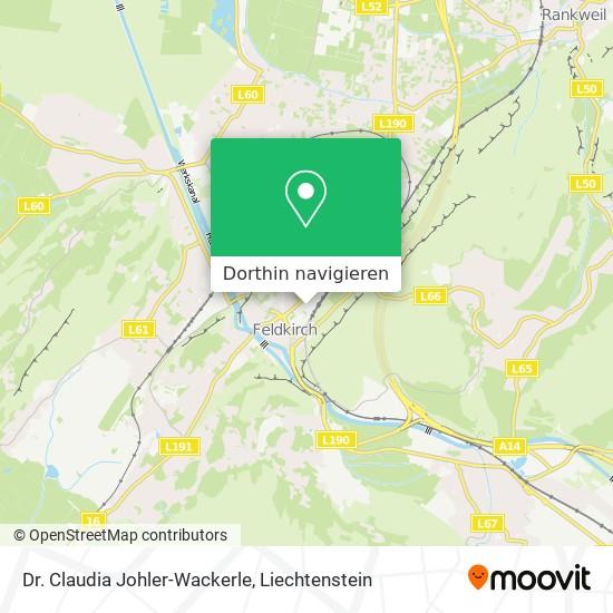 Dr. Claudia Johler-Wackerle Karte