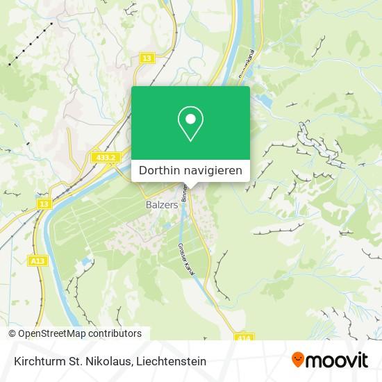 Kirchturm St. Nikolaus Karte