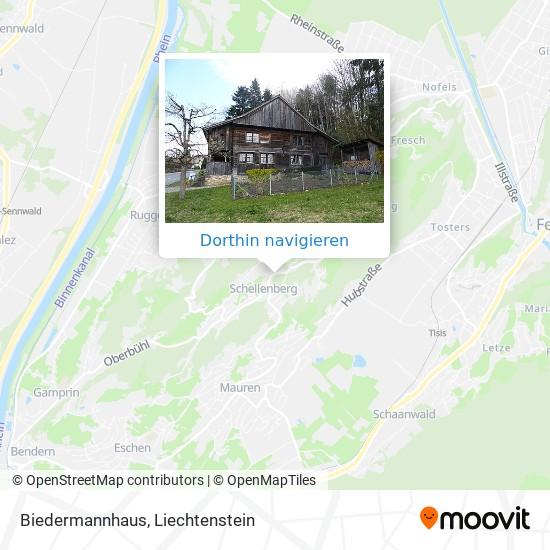 Biedermannhaus Karte