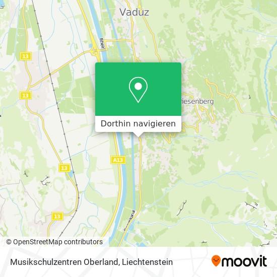 Musikschulzentren Oberland Karte