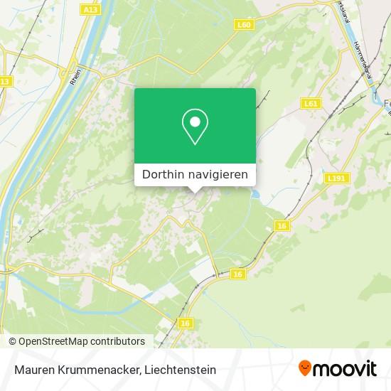 Mauren Krummenacker Karte
