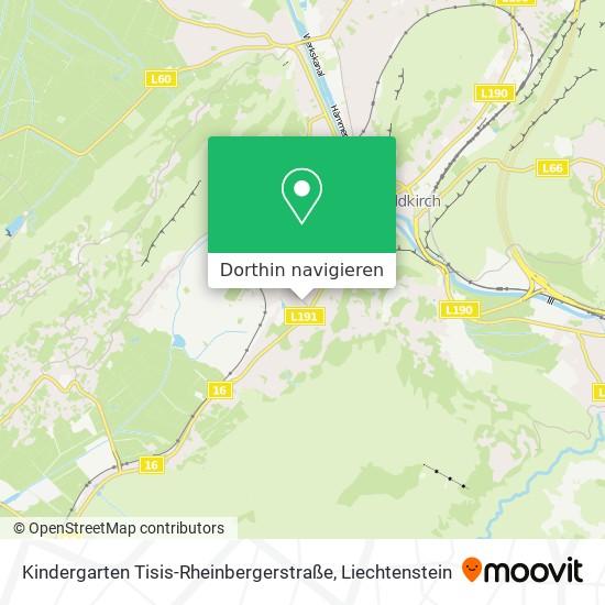 Kindergarten Tisis-Rheinbergerstraße Karte
