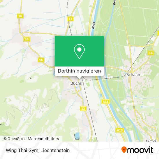 Wing Thai Gym Karte