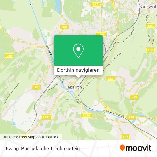 Evang. Pauluskirche Karte
