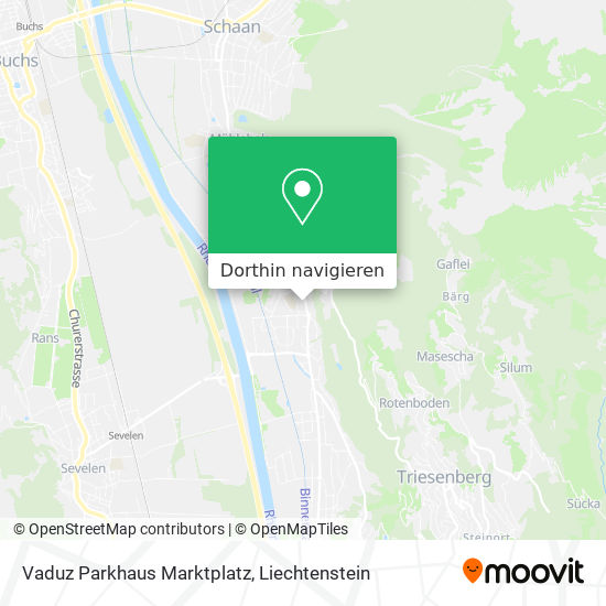 Vaduz Parkhaus Marktplatz Karte