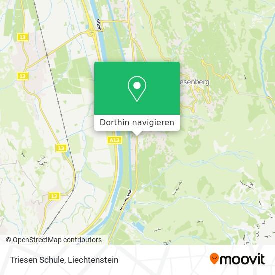 Triesen Schule Karte