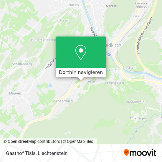 Gasthof Tisis Karte