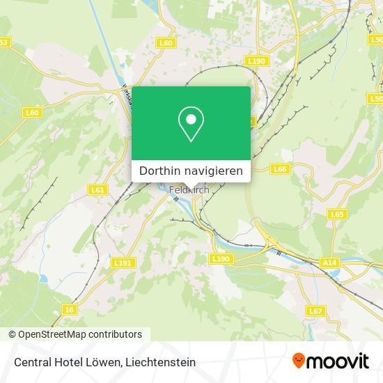 Central Hotel Löwen Karte