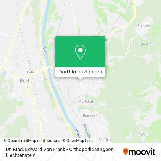 Dr. Med. Edward Van Frank - Orthopedic Surgeon Karte