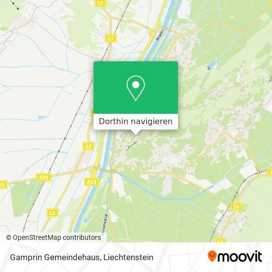 Gamprin Gemeindehaus Karte