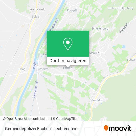Gemeindepolizei Eschen Karte