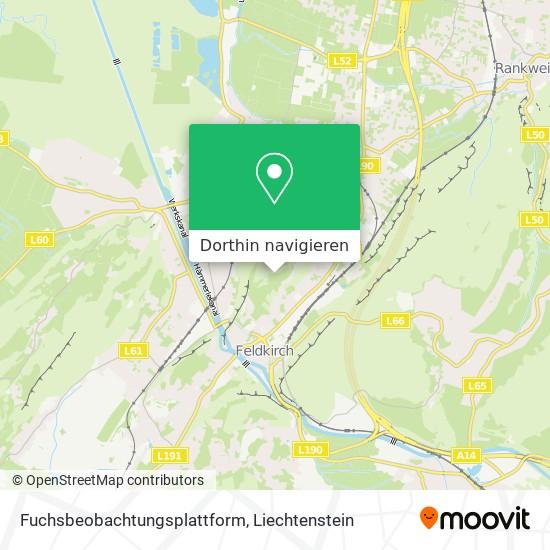 Fuchsbeobachtungsplattform Karte