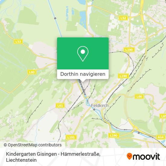 Kindergarten Gisingen - Hämmerlestraße Karte