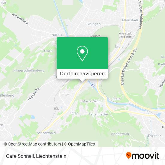 Cafe Schnell Karte