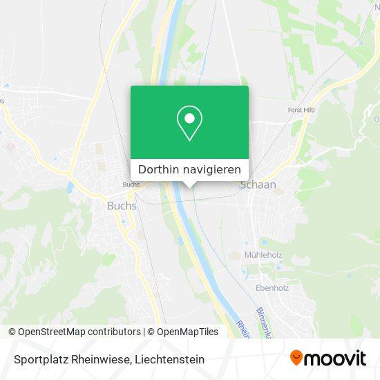 Sportplatz Rheinwiese Karte