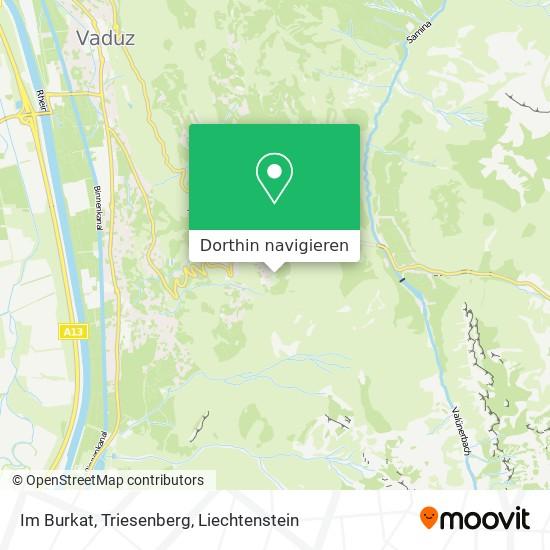 Im Burkat, Triesenberg Karte