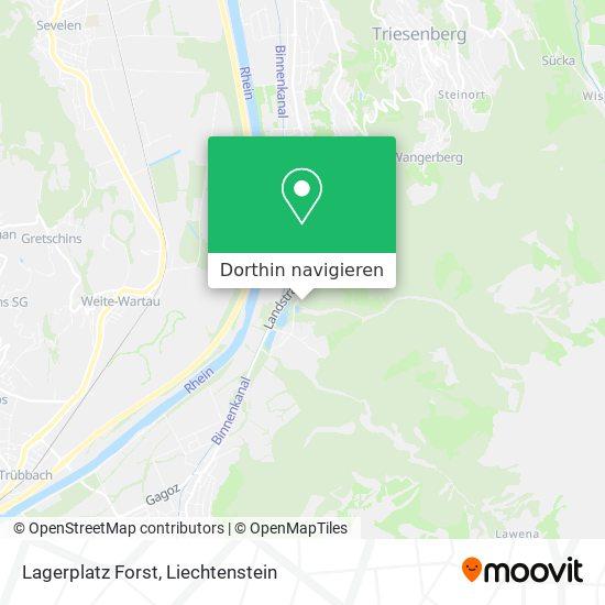 Lagerplatz Forst Karte