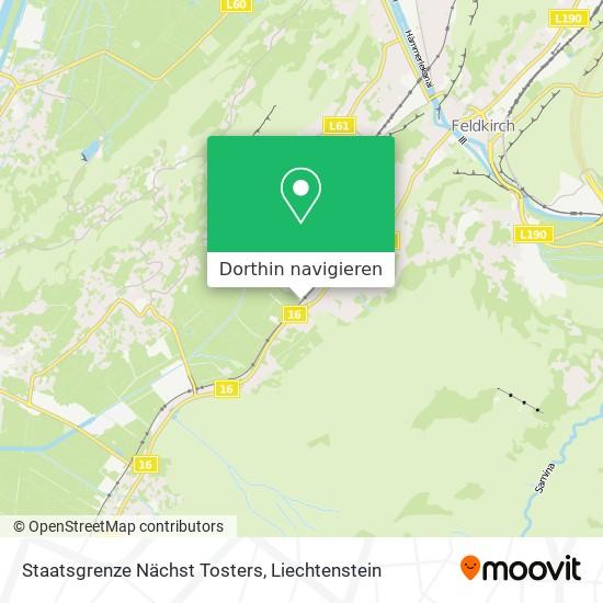 Staatsgrenze Nächst Tosters Karte