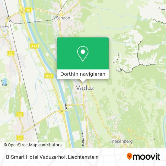 B-Smart Hotel Vaduzerhof Karte