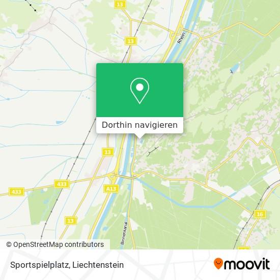 Sportspielplatz Karte