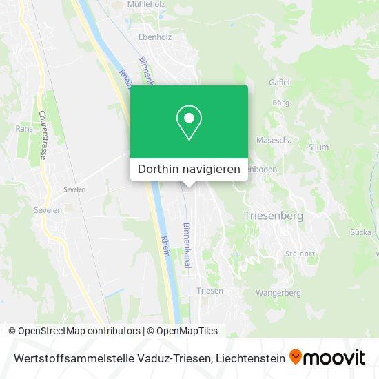 Wertstoffsammelstelle Vaduz-Triesen Karte