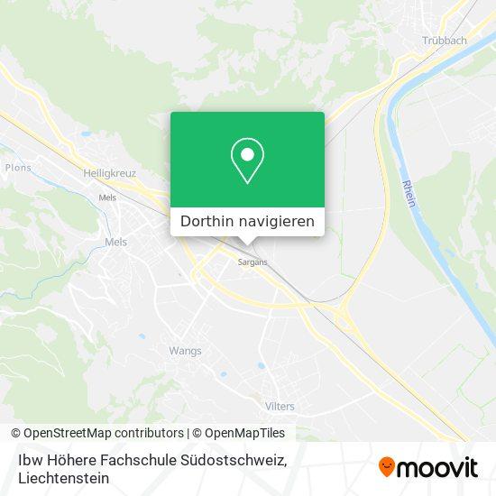 Ibw Höhere Fachschule Südostschweiz Karte