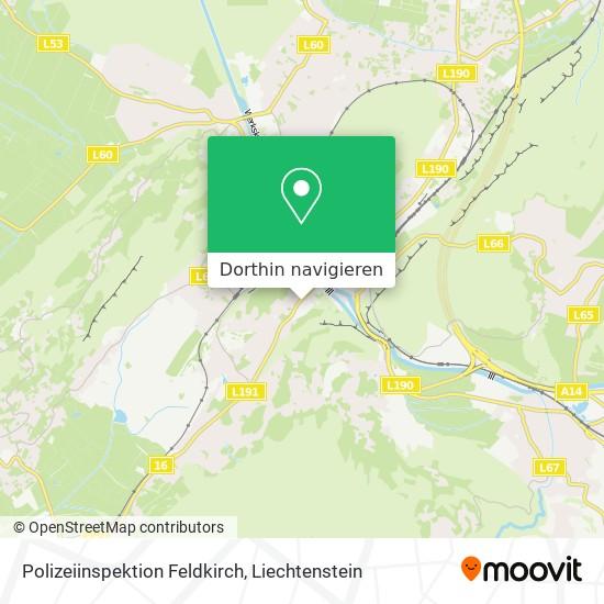 Polizeiinspektion Feldkirch Karte