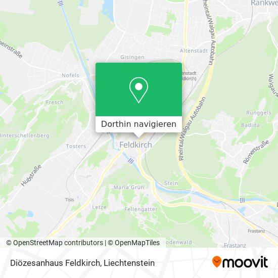 Diözesanhaus Feldkirch Karte