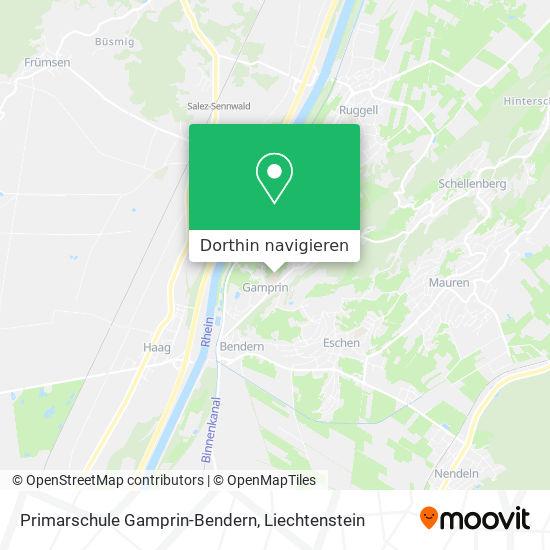 Primarschule Gamprin-Bendern Karte