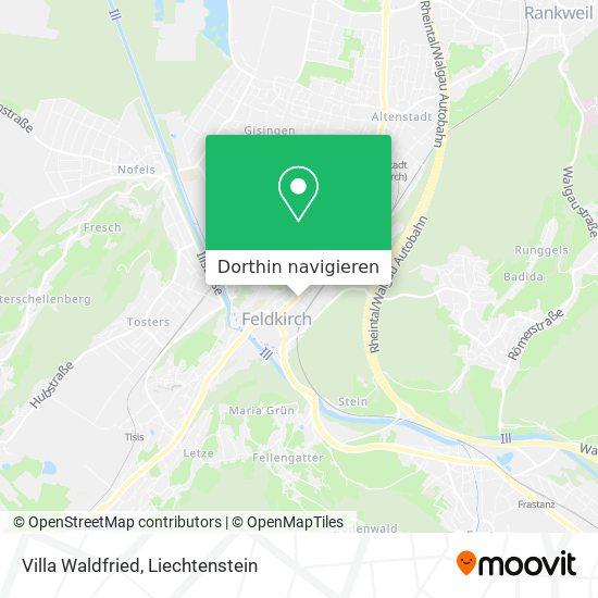 Villa Waldfried Karte