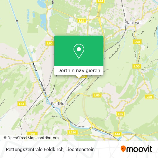 Rettungszentrale Feldkirch Karte
