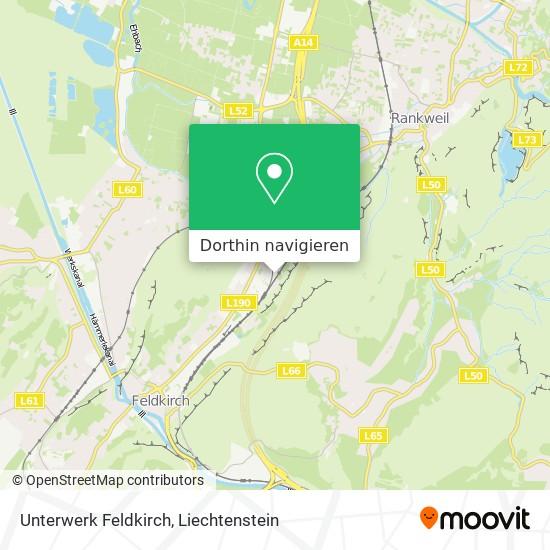 Unterwerk Feldkirch Karte