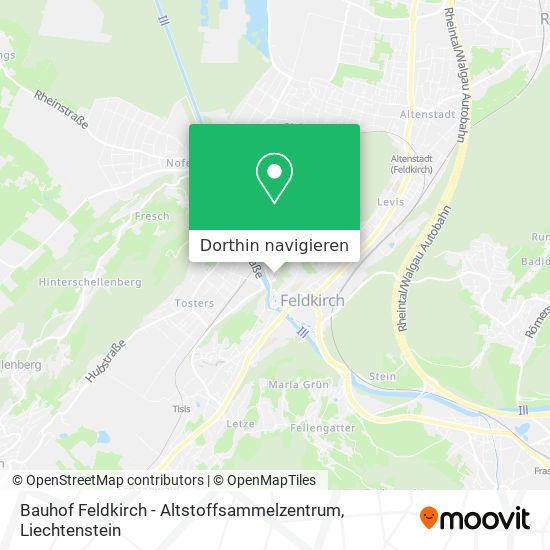 Bauhof Feldkirch - Altstoffsammelzentrum Karte