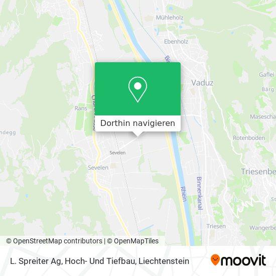L. Spreiter Ag, Hoch- Und Tiefbau Karte