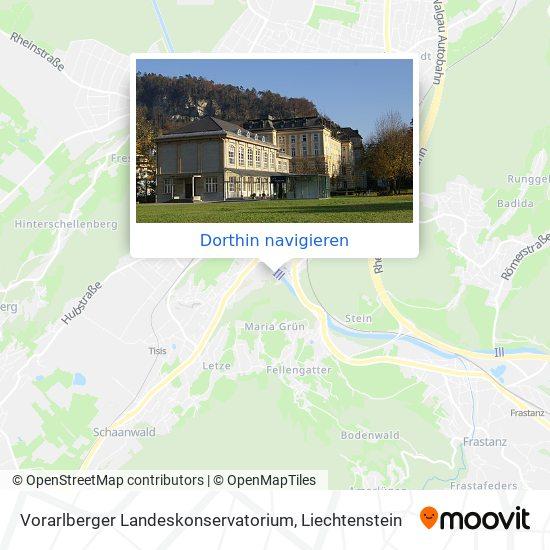 Vorarlberger Landeskonservatorium Karte