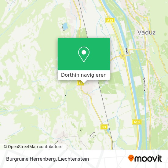 Burgruine Herrenberg Karte