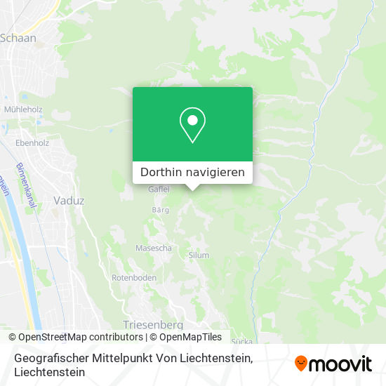 Geografischer Mittelpunkt Von Liechtenstein Karte